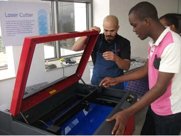 GE Garage general electric innovation strategy africa nigeria lagos fablab corporate innovation startups emerging markets innovation is everywhere 4 laser cutter