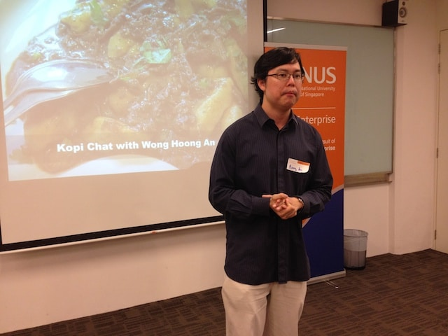 NUS Enterprise Singapore Kopi Chat conference HungryGoWhere story founder Wong Hoong An startup ecosystem innovation is everywhere martin pasquier 2