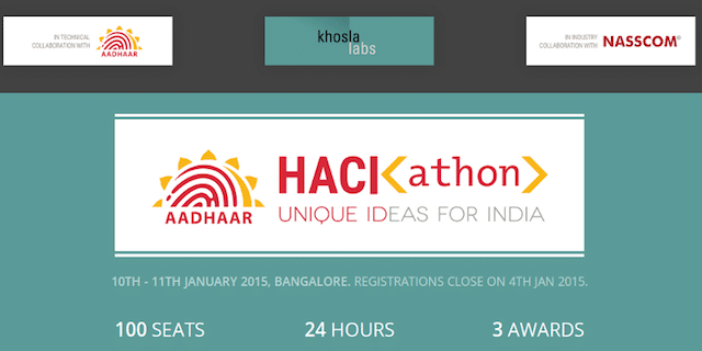 aadhaar unique identification authority india biometric ID identity database emerging markets innovation ecosystem hackathon martin pasquier innovatioiseverywhere 6