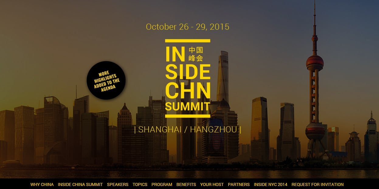 Should you go to Inside China Summit in Shanghai & Hangzhou?