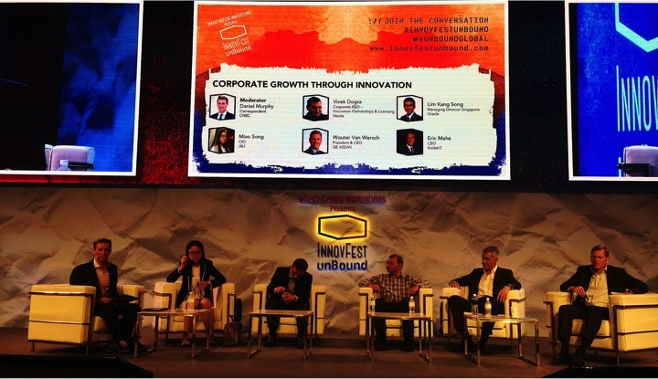 innovfest unbound singapore corporate innovation general electric uob ocbc oracle j&j martin pasquier nestlé innovation is everywhere7