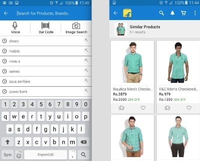 Through a partnership with ViSenze, Flipkart now offers an image search function that can suggest visually similar products to customers that increases sales conversions.