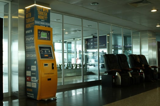 One of TravelersBox many machines in the Turkish airport