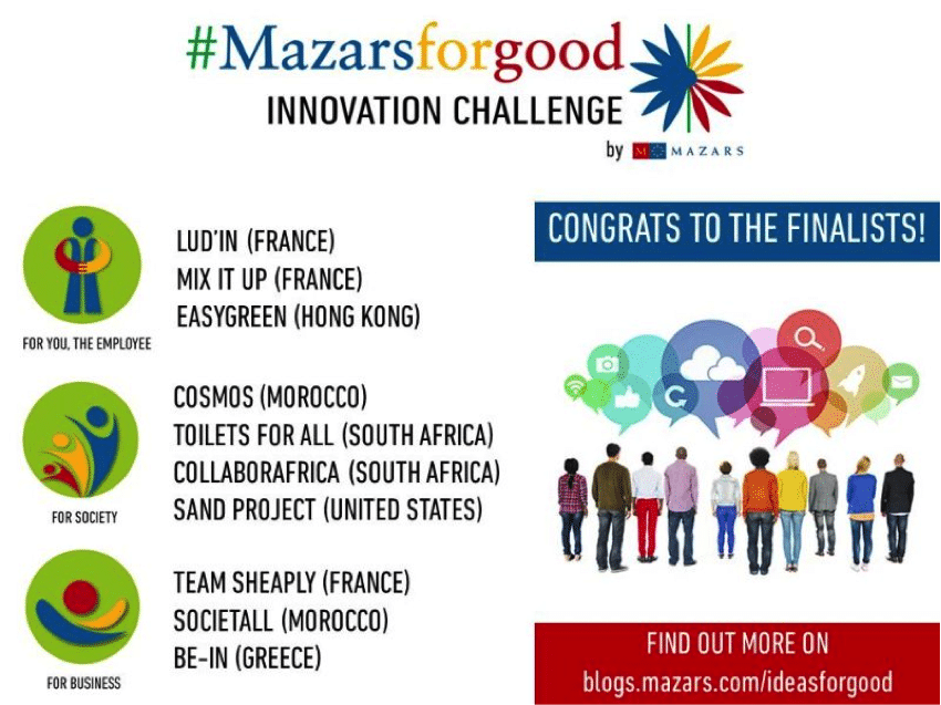 Mazarsforgood innovation challenge Mazars