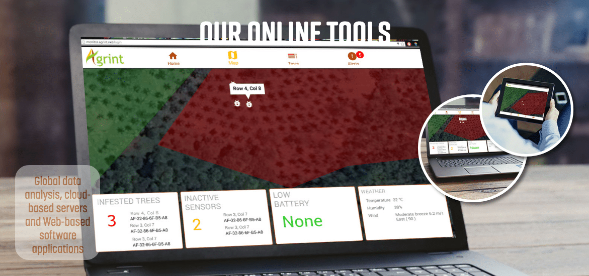Agrint's visualisation platform to provide plantation owners with actionable insights.