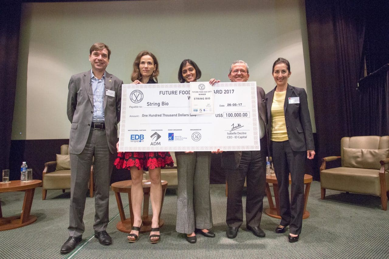 Future Food Asia Award 2017 Grand Prize Winner, String Bio, a startup making sustainable protein for animal feed from methane gas.