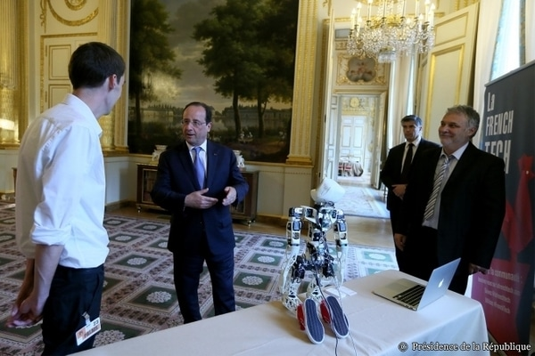 INRIA Chile Poppy robot Francois Hollande innovation is everywhere robotics french tech south america louis leclerc